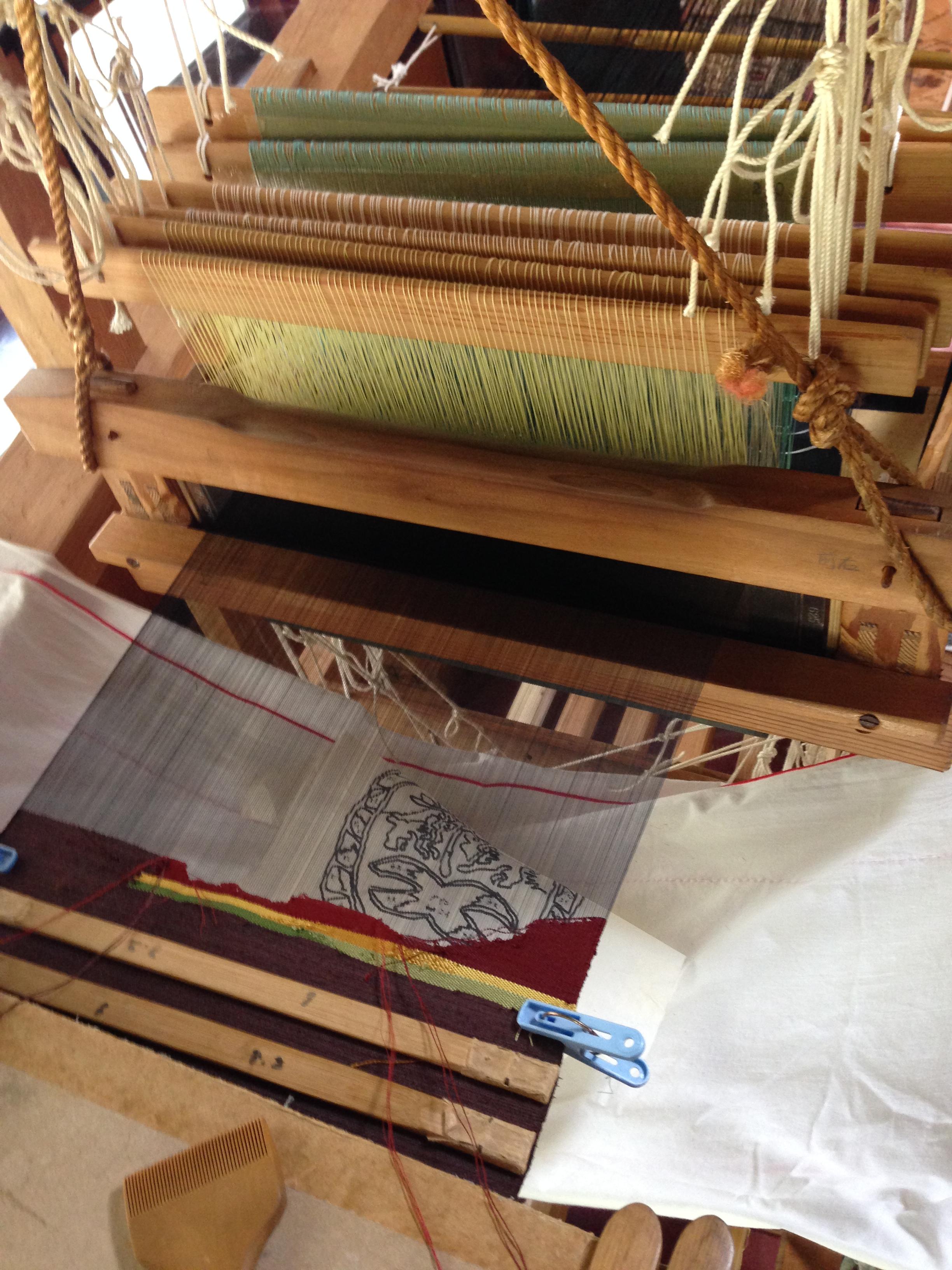 西陣織の掬い織機
