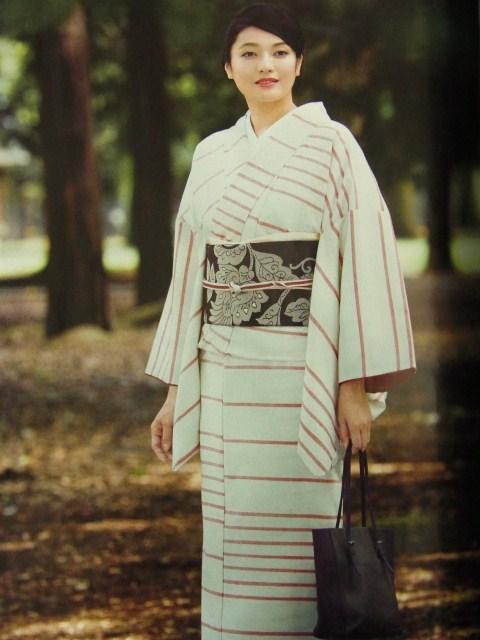 美しいキモノ掲載 上田紬